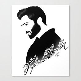 Tyler Hoechlin B&W Canvas Print