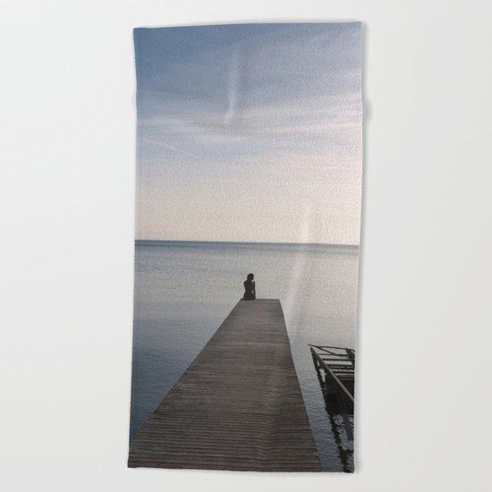 Mermaid In Terra Incognita Beach Towel