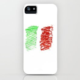 flag of Italia chalk- Italy,Italia,Italian,Latine,Roma,venezia,venice,mediterreanean,Genoa,firenze iPhone Case