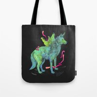 psychadelic Tote Bags featuring Desert Dreamer Uno by kozyndan
