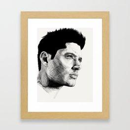Jensen Ackles Framed Art Print