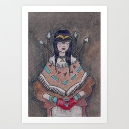 Huntress of the Forest Art Print