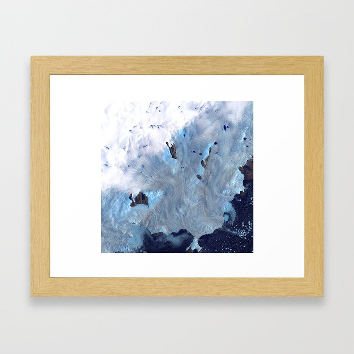 Glaciers on Greenland's Coast Framed Art Print