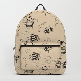 Honeybee Pattern Backpack