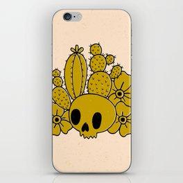 Skull and Cactus iPhone Skin