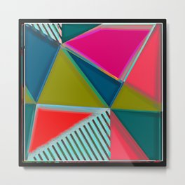 MODERN ART | VIBRANT DESIGN | ABSTRACT | CONTEMPORARY STUDIO | NEW | GRAPHIC ART Metal Print