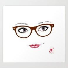 Hipster Eyes 1 Art Print