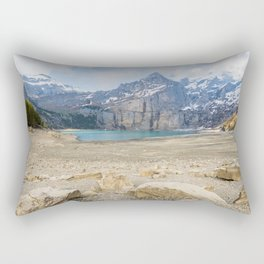 Oeschinen Lake Bernese Oberland Switzerland Rectangular Pillow