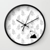 karl lagerfeld Wall Clocks featuring Karl & Choupette by cvrcak