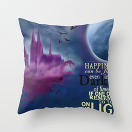 Cologne Illustration Throw Pillow