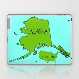Alaska and the Lower 48 Forty-eight Laptop & iPad Skin