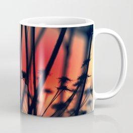 Shapes - dry weeds at sunrise Coffee Mug