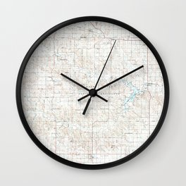 SD Lemmon 344693 1984 topographic map Wall Clock