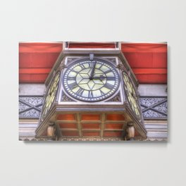Paddington Station Clock Metal Print