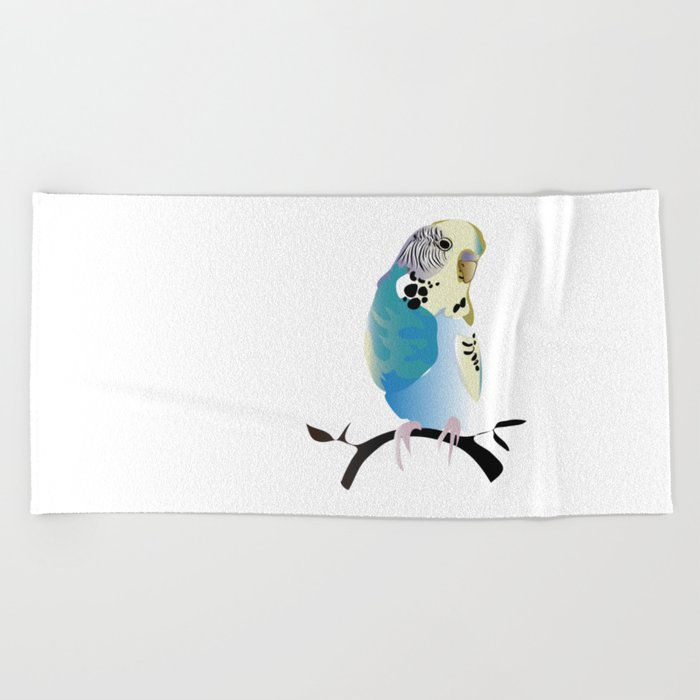 Budgie Love Beach Towel