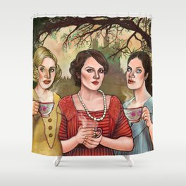 The Crawley Sisters Shower Curtain