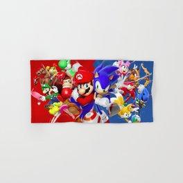 Mario vs Sonic Hand & Bath Towel