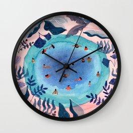 Emerald jungle pool Wall Clock