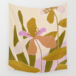 Colorful Iris Flowers Wall Tapestry