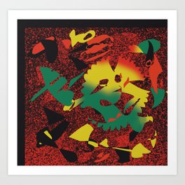 Pieces of Reggae #Abstract #PopArt Art Print
