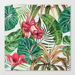 Tropica #pattern #illustration #tropical Canvas Print