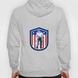 American Pressure Washing USA Flag Shield Retro Hoody