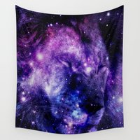 leo Wall Tapestries featuring Lion Leo by 2sweet4words Designs