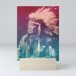 PAINTED HORSE SIOUX NATIVE AMERICAN Mini Art Print