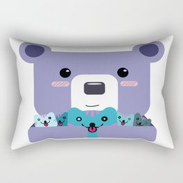 Bear and Cats Rectangular Pillow