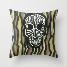 Skull Fiber Throw Pillow
