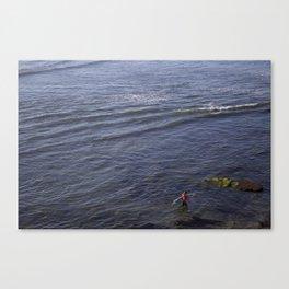 Lone Surfer Girl Canvas Print
