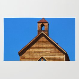 Old West Church on the Hill Rug