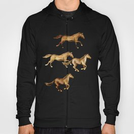 Wild and Free - watercolor horses Hoody