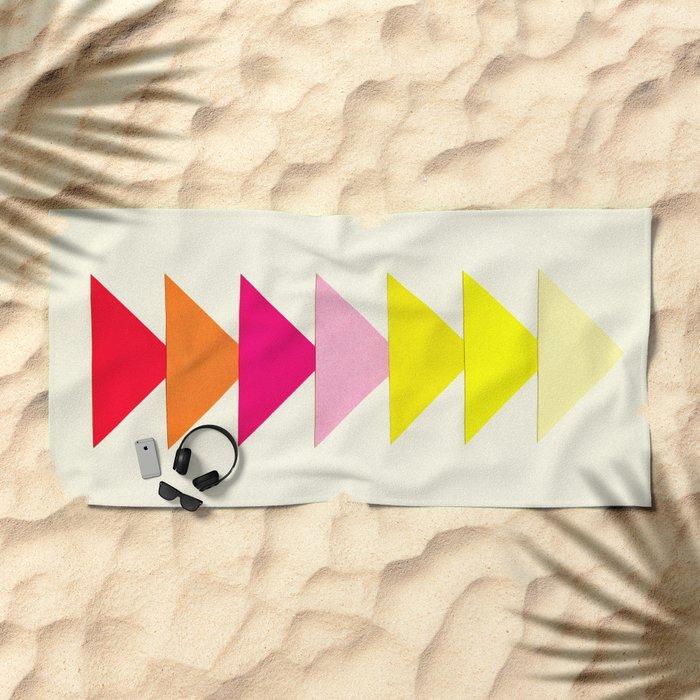Arrows II Beach Towel