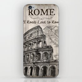 Vintage Travel Poster Rome iPhone Skin