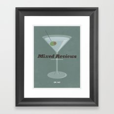Mixed Reviews - Dr. No Framed Art Print