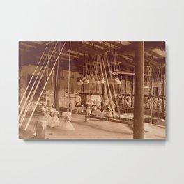 Weaving Mill Metal Print