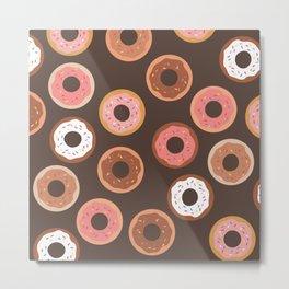 Chocolate Donut  Metal Print