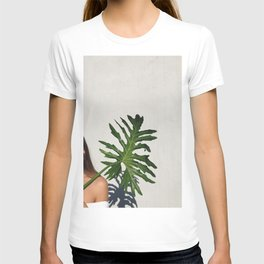 Woman with a banana leaf T-shirt
