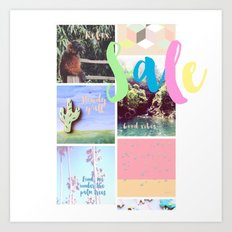 SALE in my giftedfools shop yay!! Art Print