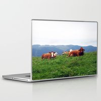 cows Laptop & iPad Skins featuring Relaxing Cows by BACK to THE ROOTS