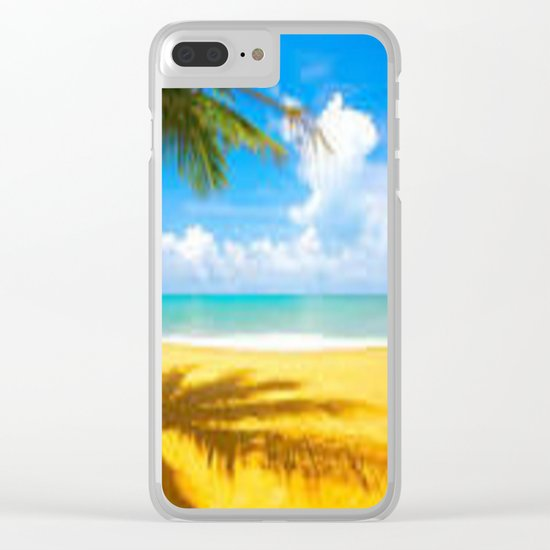 kill the beach Clear iPhone Case