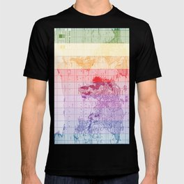 Rainbow World Map T-shirt