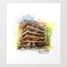 Athens architecture Art Print