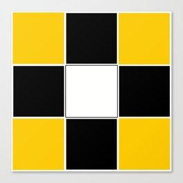 TEAM COLORS 3...BLACK ,YELLOW Canvas Print