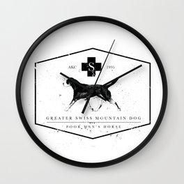 GSMD label Wall Clock
