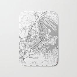 Brasilia Map Line Bath Mat