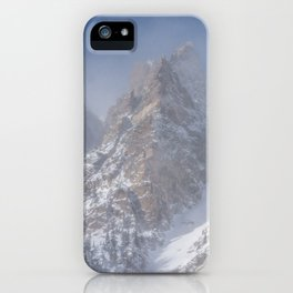 Spires of Emerald Lake in Winter iPhone Case