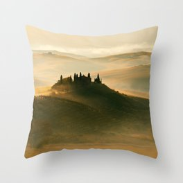 Sunrise in Val D'Orcia Throw Pillow