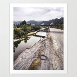Behind The Redwood Curtain Art Print